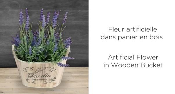 Seau De Fleurs Jardin - 19.5x14x25-8b