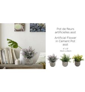 Pot de ciment de fleurs artificielles ASST- 10x20 - 12B