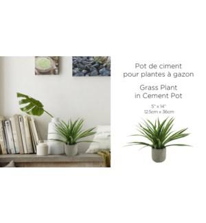 Pot de ciment pour plantes … gazon 12.5x36-8B