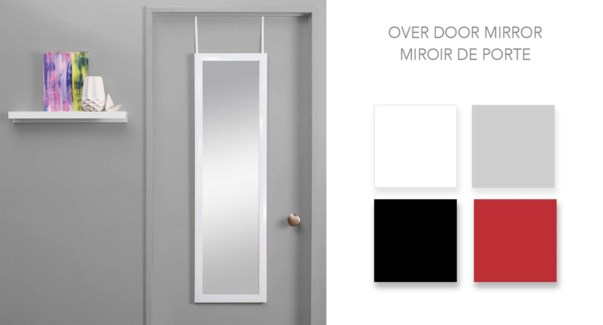 Over Door Mirror Whi 30x120CM 10/b