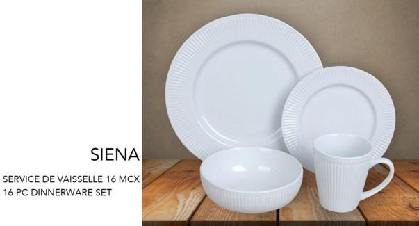 SET DE VAISSELLE 16 MCX ''SIENA''