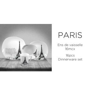 DINNERWARE SET 16PC PARIS LA SEINE