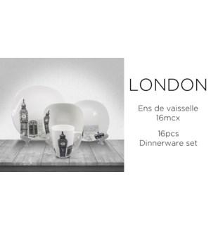 DINNERWARE SET 16PC LONDON BIG BEN