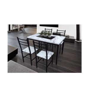5PC Marble pvc dinner set with 4 chairs Grey:04 1 per 2 ctn