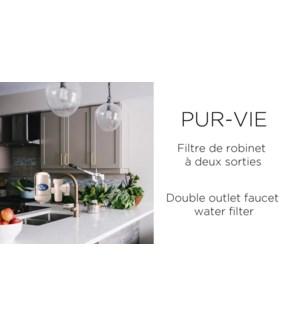 DOUBLE FILTRE POR ROBINET AVEC 2 RECHANGE DE FILTRE CERAMIQU
