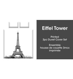 EIFFEL TOWER 3PC ENS HOUSSE DE COUETTE gris DOUBLE 2B