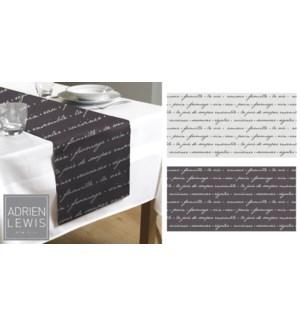 ELISE CHEMIN DE TABLE EN COTON LIN 13X721 12B