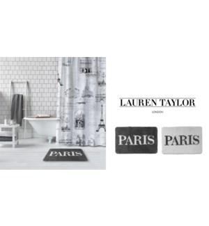 PARIS TAPIS DE BAIN BLANC 20X30 12B