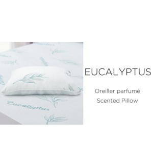 """EUCALYPTUS SCENTED KNITTED PILLOW SHELLS 18.5x28.5"""" STD"""