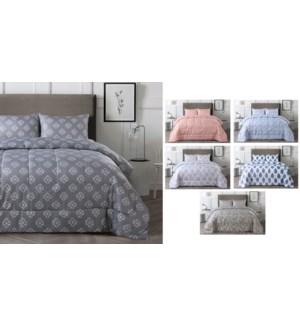 1pc Floral Comforter Queen 86x86 asst.6b
