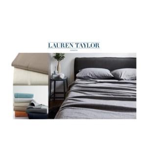 Flannel Solid FLAT Sheet ASST. Q 8/bx