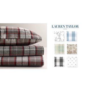 Flannel Prntd Sheet Set Q 4/bx