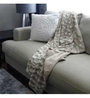 Fur Ivory Throw   Bc 50x60  8b