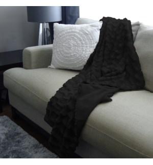 Fur Black Throw   Bc 50x60  8b