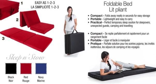 "FOLDABLE FOAM BED 27X73X3"" ASST."