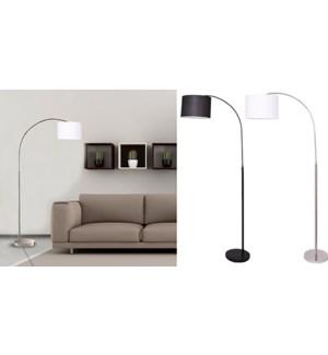 LAMPE DE PLANCHER DE BRAS D'ARC DE Noir 30x100x190cm