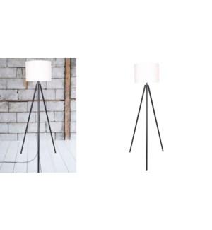 LAMPE DE PLANCHER DE TREPIED METAL NOIR 55x55x152cm 1B