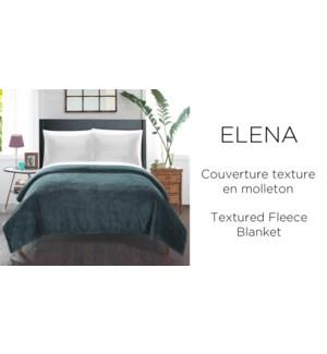Elena textured fleece blanket 60X80 ASST. 12/B