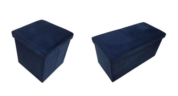 King Strg Foldbl Ottom 38X38X38CM Blue