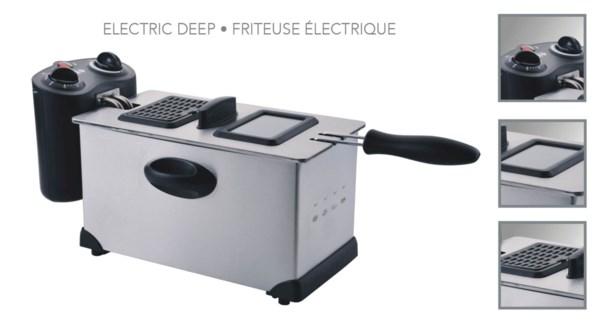 FRITEUSE LECTRIQUE 3.0L 1700W METAL DF-036