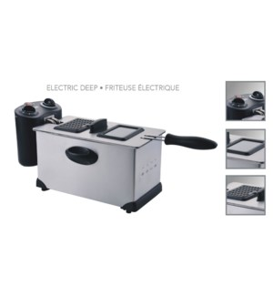 FRITEUSE LECTRIQUE 3.0L 1700W METAL DF-036