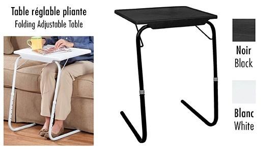 PLIANTE REGLABLE BLANC 40X52X72CM TABLE-MATE 6/B