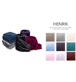 HENRIK plush coral fleece blanket  Sld 80x90 12/b