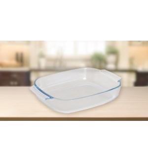 High Borosilicate Rect. glass baking dish 2.9L
