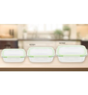 GLASS FOOD CONTAINER RECT 1520ML