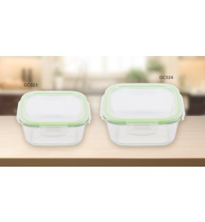 GLASS FOOD CONTAINER SQUARE 520ml/17.6oz