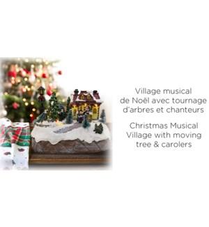 Village musical de No‰l - Tournage d'arbres et chanteurs - 1