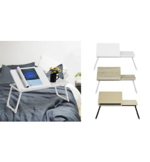 MAMIE TABLE PLIANT D`ORDINATEUR PORTABLE BLANC 65X30X27.5CM