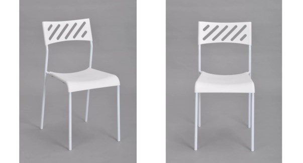 NESTO PLASTIC CHAIR WITH METAL FRAME 39X50X77CM WHITE 6/B