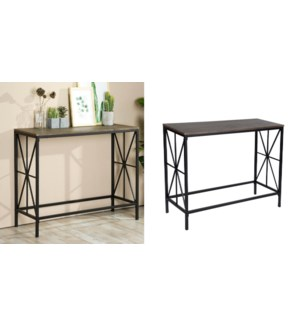 NAVIN CONSOLE TABLE WITH MDF TOP DK BROWN 1/B