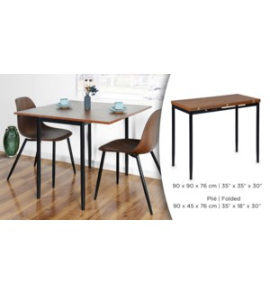 CLINTON EXTANDABLE DINING TABLE - STEEL FRAME WITH MDF TOP