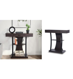 SHELTON WALNUT CONSOLE TABLE WITH DRAWER
