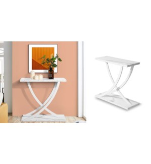 RITTER WHITE CONSLE TABLE 80X30X76CM
