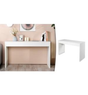 OUNAS WHITE CONSOLE TABLE 122X39.5X80CM