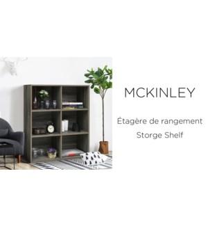 MCKINLEY STORAGE SHELF - WOOD FINISH 80X30X90CM