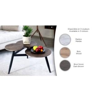 BIEL 3-TIER COFFEE TABLE WHITE MARBLE  70.6X65.5X40.5CM