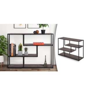 METACRITIC ACCENT SHELF WITH METAL FRAME AND MDF SHELVES