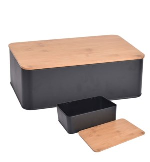 Bread Bin with Bamboo Cover 4/b