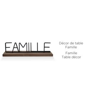 D'cor de table  - Famille 40x5x11,2- 8B