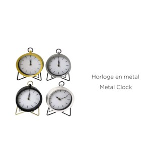 Horloge en m'tal noir 15x7x20 - 6B