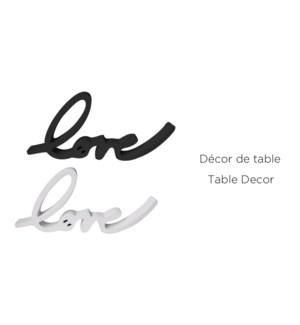 D'cor de table Love ASST 26x12x2- 12B