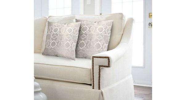 "CHELSEA 2PK jacquard cushion 20x20""  GREY 6/b"
