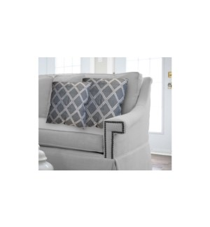 "ELGIN 2PK jacquard cushion 20x20""  navy 6/b"