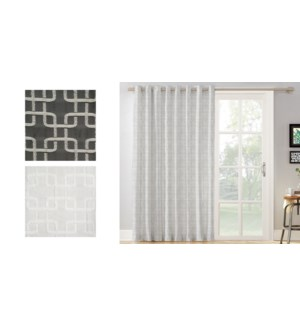 geo jacquard grommet top panel 52X84 CHARCOAL 22/B