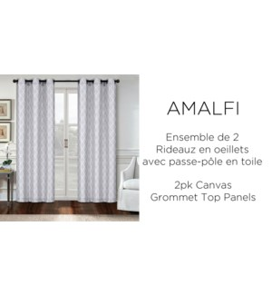 2 PK Amalfi canvas grommet top panel  38x84 6/b