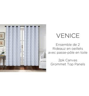 2 PK Venice canvas  grommet top panel  52x84 6/b